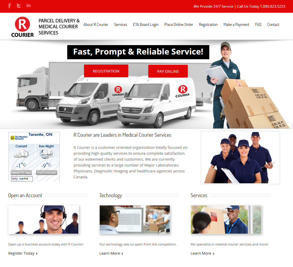 rcourier-courier-services-toronto-screenshot